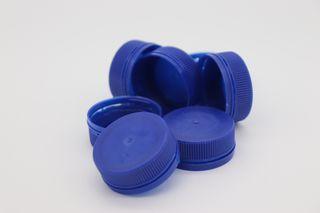 PET LID BLUE FIT 300 & 500 CLEAR BOTTLE