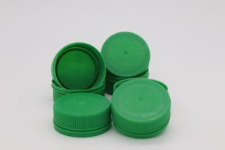 PET LID GREEN FIT 300 & 500 CLEAR BOTTLE