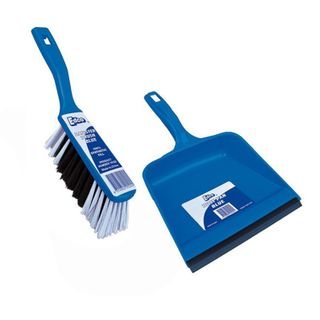 DUST PAN  SET EDCO BLUE CTN