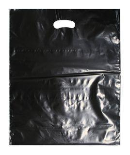 BLACK LDPE DIE CUT BAG LG 500X400 40 MIC SLV