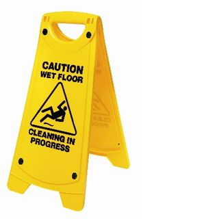 'A' FRAME CAUTION WET FLOOR SIGN YELLOW