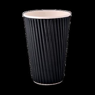 16OZ  BLACK WAVE CUPS CTN