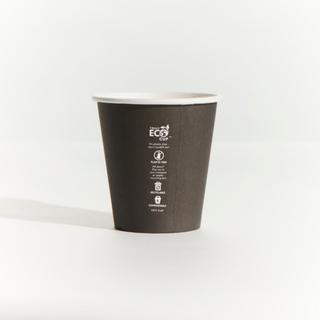 8OZ BLACK TRULY ECO S/W CUPS UNI/SQUAT CTN