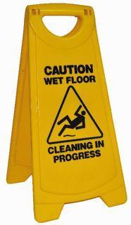 EDCO STANDARD WARNING SIGN YELLOW 12/CTN