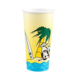 24OZ  MILK SHAKE CUP BEACH