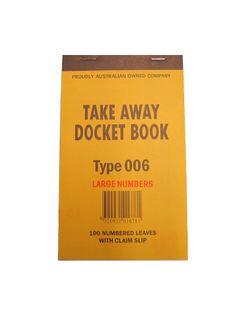 DOCKET BOOK 006 CLAIM SLIP SML