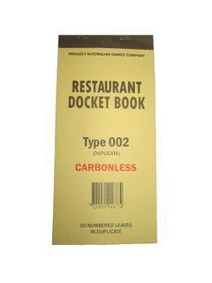 DOCKET BOOK 002  DUPLICATE LGE CARBONLES