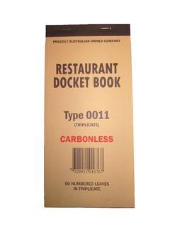 DOCKET BOOK 0011 TRIPLICATE CARBONLESS