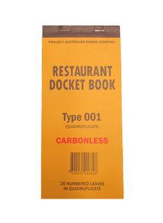 DOCKET BOOK 001 CARBONLESS QUAD LG