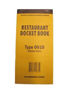DOCKET BOOK 0010 SINGLE SH ( 100 ) LGE