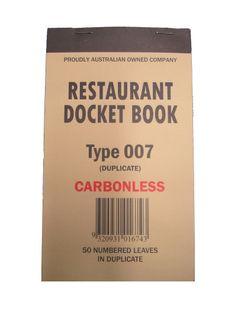 DOCKET BOOK 007 C/LESS 50 DUPLICAT SMAL