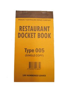 DOCKET BOOK 005 SMALL  NO CLAIM SLIP