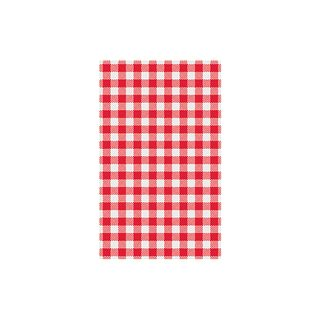 CHECK GREASEPROOF PAPER RED (GINGHAM)