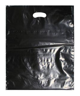 BLACK LDPE DIE CUT BAG LG 500X400 40 MIC CTN