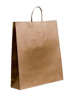 LARGE (B) TWIST PAPER BAG 500X450+120