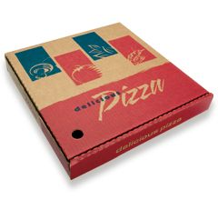 13 IN PIZZA RED B-FLUTE 50P