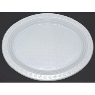 11X8.1 OVAL CAPRI WHITE PLATE CTN
