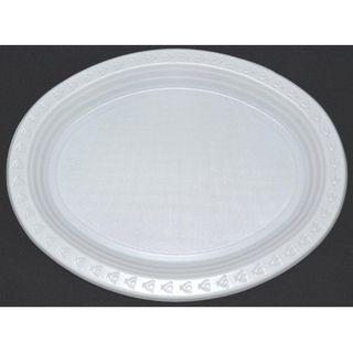 11X8.1 OVAL CAPRI WHITE PLATE (SLV)