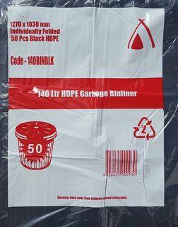(TP-HIGH)140L BIN LINER HDPE 1270X1030