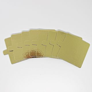 SQUARE BOARD 70X70MM GOLD WITH TAB