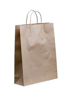 MIDI (B) TWIST PAPER BAG (SLV)