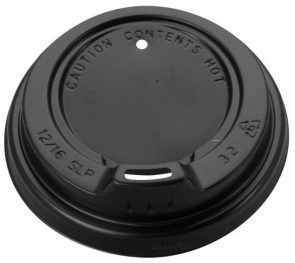 LID 12oz BLACK SIPPER 12SLPB