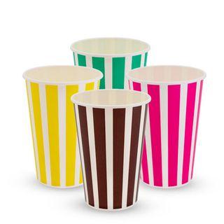 16 OZ THICK SHAKE CUP CANDY STRIPE (SLV)