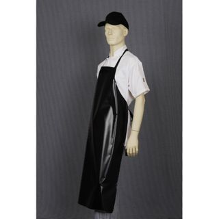 APRON PVC BIB LARGE BLACK