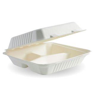 CLAMSHELL DINNER SMALL 7.8X8X3 3 COMP CTN