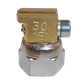 H200 nozzle; 90°; 2 exits; Ø0.30 mm; 15°