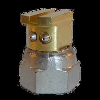 H200 nozzle; 90°; 2 exits; Ø0.45 mm; 22°