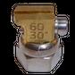 H200 nozzle; 90°; 2 exits; Ø0.60 mm; 30°