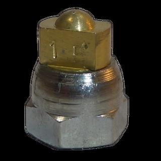 H200 nozzle; spherical; 2 exits; 15°; Ø0.25mm