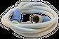 Valve cable; M12; 5-pin; rev key; 1 metre