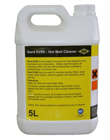 Gard EV60 external hot melt cleaner; 5L