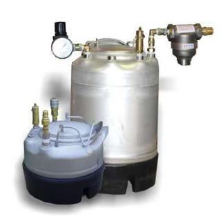 Glue pressure tank; 3 gallon; 0-125 psi