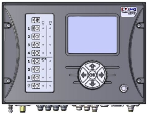 MCP-8I control assembly with Inspection, 4 channels gluing, 3 channels inspection, stand alone, M12 connectors with EPC flow control