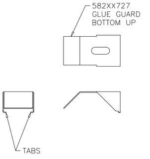 Glue guard; bottom up; Boardrunner