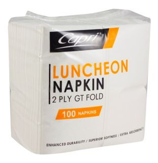 2PLY GT LUNCH NAPKIN WHT(NL0121/N2LWGT)