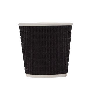 4OZ TRIPLE WALL CUP CORR BLACK (4TWCC)