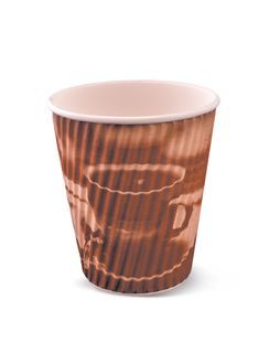 12OZ RIPPLE CUP BROWN CLASSIC(R368S0020)