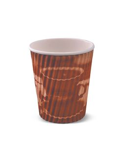 8OZ RIPPLE CUP BROWN CLASSIC (R604S0020) (40/1000)