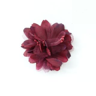 FABRIC FLOWERS (PACK OF 12) BURGUNDY - BUY1 GET1 FREE(NO RETURNS)