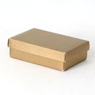 CHOC BOX SMALL 130(L) x 90(W) x 40(H)mm GOLD (MIN BUY 10)