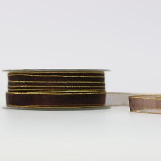 CHIFFON 10mm x 50M CHOCOLATE
