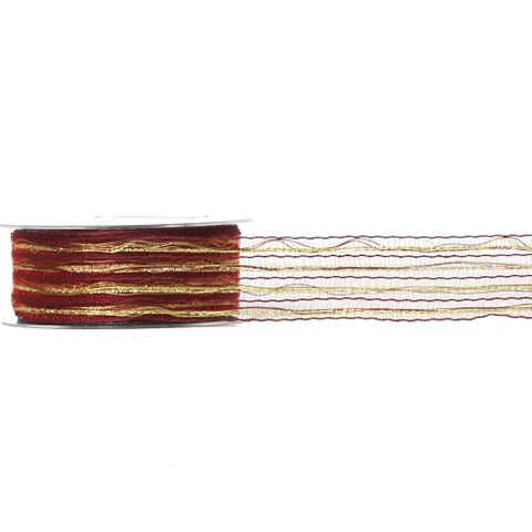 COLOUR WEAVE 40mm x 20M BURGUNDY/GOLD-BUY1 GET1 FREE