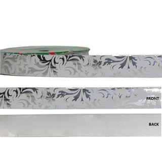 METALLIC DESIGN 25mm x 50M WHITE/SILVER DESIGNS