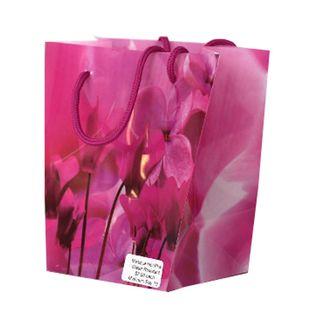 FLORIST MYSTIQUE BAG 185(H)x120(W)x110(G)mm HOT PINK-PACK OF 10