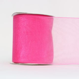 MONO EDGE ORGANZA 70mm x 23M SHOCK.PINK