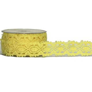 VICTORIAS LACE 35mm x 10M YELLOW